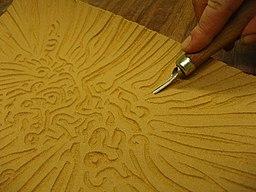 Making a linocut