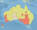 Malacorhynchus membranaceus distribution map (blank).png