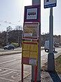 Malovanka, dočansná autobusová zastávka, označník.jpg