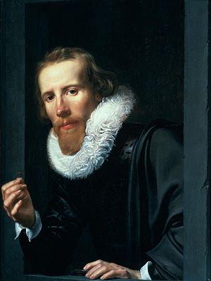 Werner van den Valckert - Man With a Ring, possibly Bartolomeus Jansz van Assendelft, 1617.