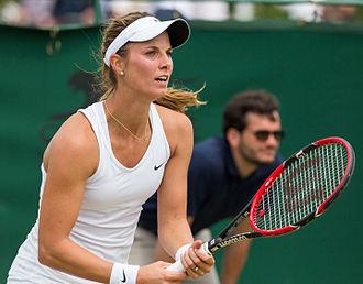 Mandy Minella - Minella at the 2015 Wimbledon<br/>qualifying tournament
