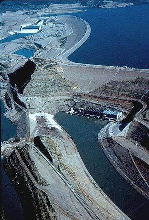 Mangla Dam - Image: Mangla Dam Aerial View