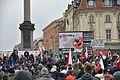 Manifestacja przeciw islamizaji Europy Ruch Narodowy Młodzież Wszechpolska plac Zamkowy 2016.jpg