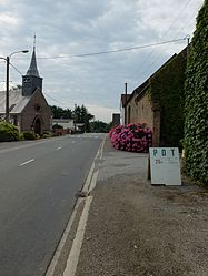 The main road of Maninghem