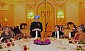 Manmohan Singh addressing at the banquet lunch hosted by the President of the Russian Federation, Mr. Dmitry A. Medvedev and Mrs. Svetlana Medvedeva, in Moscow, Russia on December 16, 2011. Smt. Gursharan Kaur is also seen.jpg