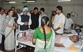 Manmohan Singh visited J J Hospital to enquire the health of bomb blast victims, in Mumbai. The Chairperson, National Advisory Council, Smt. Sonia Gandhi and the Chief Minister of Maharashtra (1).jpg