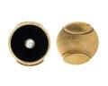 Manschettknappar av guld med agat och pärlor, 1860 - Hallwylska museet - 110609.tif
