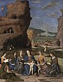 Mantegna - The Virgin and Child with Infant Saint John the Baptist and Six Female Saints, about 1497-1500.jpg
