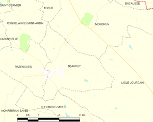 Beaupuy, Gers - Beaupuy and its surrounding communes