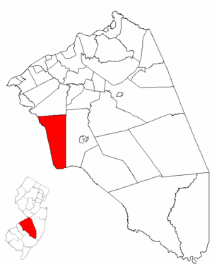 Evesham Township, New Jersey - Image: Map of Burlington County highlighting Evesham Township