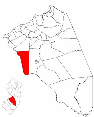 Evesham Township, New Jersey - Image: Map of Burlington County highlighting Evesham Township