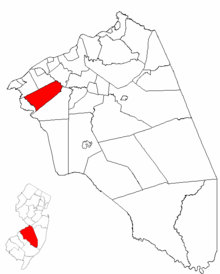 Map of Burlington County highlighting Moorestown Township.png