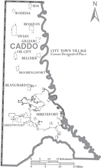 Map of Caddo Parish Louisiana With Municipal Labels.PNG