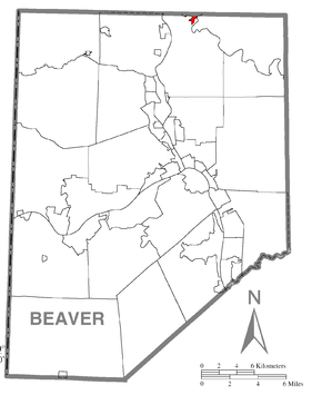 Map of Elwood City, Beaver County, Pennsylvania Highlighted.png