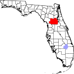A state map highlighting Marion County in the corner part of the state. It is large in size.