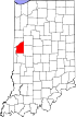 State map highlighting Fountain County