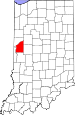 Map of Indiana highlighting Fountain County.svg