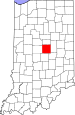 Map of Indiana highlighting Hamilton County.svg