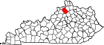 State map highlighting Owen County