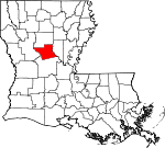 State map highlighting Grant Parish