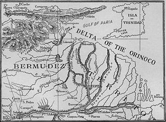 Orinoco - Map of the Lower Orinoco River, 1897