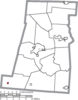 Location of South Solon in Madison County