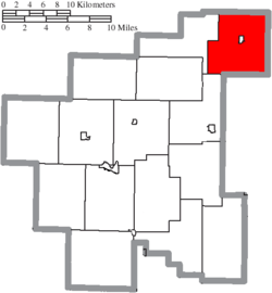 Location of Beaver Township in Noble County