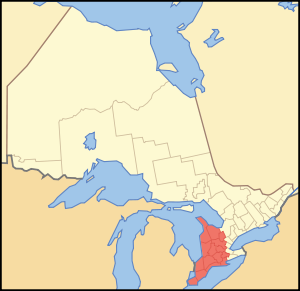 Map of Ontario SOUTHWESTERN.svg