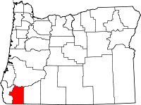 Map of Oregon highlighting Josephine County.svg