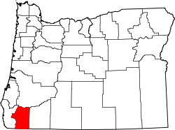 map of Oregon highlighting Josephine County