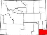 Map of Wyoming highlighting Laramie County.svg