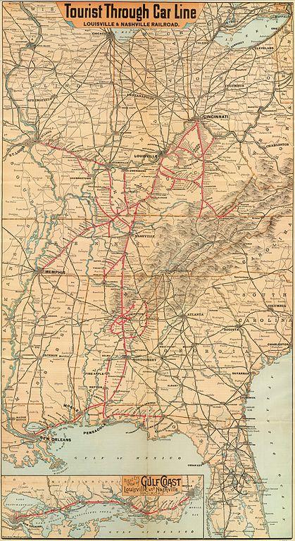 FileMap Of The Louisville Amp Nashville Railroad Ca 1890