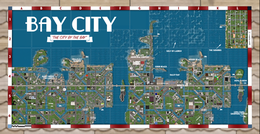 Mappa di Bay City (Moose Beach), grande città virtuale di Second Life