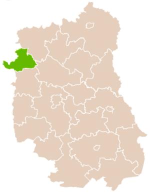 Ryki County - Image: Mapa Pow Rycki