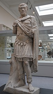 Marble statue of the Emperor Septimius Severus (ruled AD 193-211), from Alexandria (Egypt), about AD 193-200, Roman Empire, British Museum (14134422350).jpg