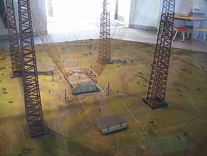 Marconi National Historic Sites of Canada - A model of Marconi's  transmission towers at his first wireless station in Glace Bay