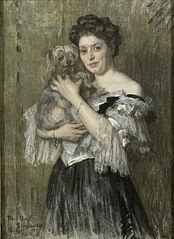 Portrait of Maria Catharina Josephine Jordan, wife of the painter George Hendrik Breitner