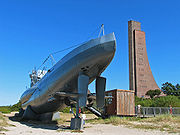 The Laboe Naval Memorial for sailors who lost their lives at sea during the World Wars and while on duty at sea and U 995