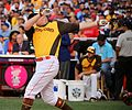Mark Trumbo competes in semifinals of '16 T-Mobile -HRDerby. (28285839130).jpg