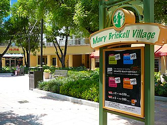 Mary Brickell Village - Image: Mary Brickell Village sign