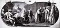 Matteo rosselli, michelangelo di ritorno da venezia ricevuto dai priori fiorentini.jpg