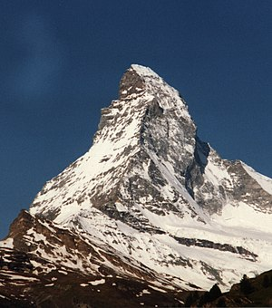 O Matterhorn/Cervino visto de Zermatt