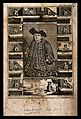 Matthias Buchinger, a phocomelic, with thirteen scenes repre Wellcome V0007014.jpg