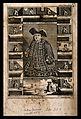 Matthias Buchinger, a phocomelic, with thirteen scenes repre Wellcome V0007014.jpg