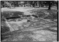 May 1958 FOUNDATION FROM SOUTH - Fort Frederica, Foundation in Northeast Bastion, Saint Simons Island, Glynn County, GA HABS GA,64-FRED,3-1.tif