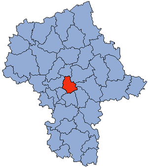 Masovian Voivodship with the Powiat of Warsaw marked