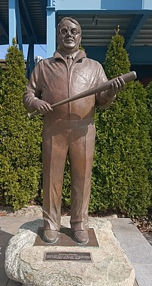 Statue outside of McCoy Stadium McCoy Stadium - Ben Mondor statue.jpg