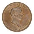 Medalj med Hans Järta i profil - Skoklosters slott - 99289.tif