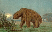 Illustration of Megatherium from around 1920.