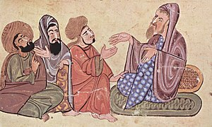 Solon - Solon, depicted with pupils in an Islamic miniature